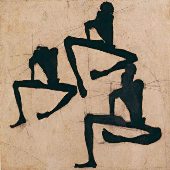 Schiele, Egon: Composition with Three Male Nudes. Fine Art Print/Poster (003671)